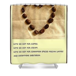Coffee Shop Hopping Shower Curtain