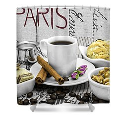 Coffee Still Life Shower Curtain