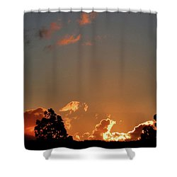 Coffee Sunset Shower Curtain by Mark Blauhoefer