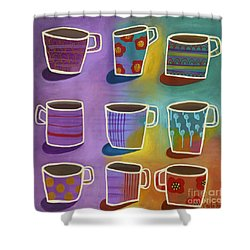 Shower Curtain featuring the painting Coffee Time by Carla Bank