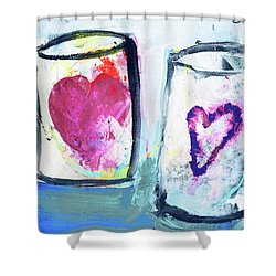 Coffee With Love Shower Curtain by Amara Dacer
