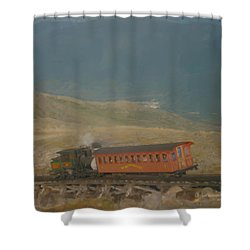 Cog Railway Mount Washington Shower Curtain