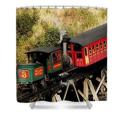 Cog Railway Vintage Shower Curtain