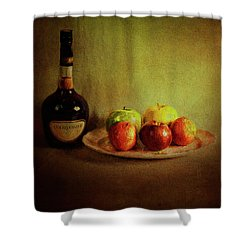 Cognac And Fruits Shower Curtain