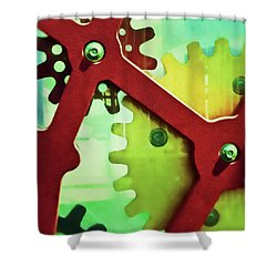 Cogs Square Edition Shower Curtain