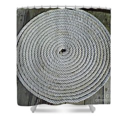 Coiled By D Hackett Shower Curtain by D Hackett