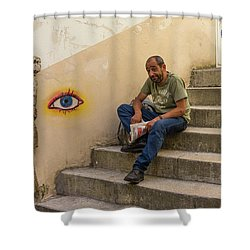 Coimbra  Local  Shower Curtain by Patricia Schaefer