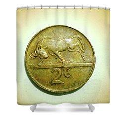 Shower Curtain featuring the photograph Coin Series -  by Beto Machado