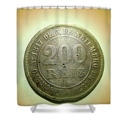 Shower Curtain featuring the photograph Coin Series - Brazil by Beto Machado