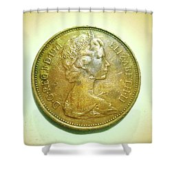 Shower Curtain featuring the photograph Coin Series - England by Beto Machado