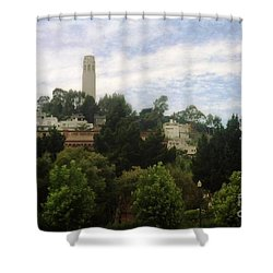 coit Tower San Francisco Shower Curtain