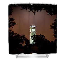 Coit Tower Through The Trees Shower Curtain