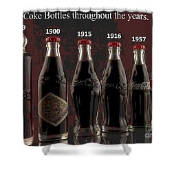 Coke Through Time Shower Curtain by George Pedro