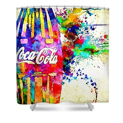 Cola Grunge Shower Curtain