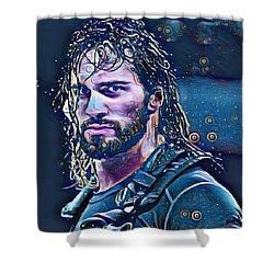 Colby Lopez Portrait Shower Curtain