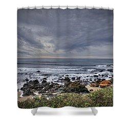 Cold Beach Shower Curtain