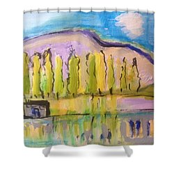 Cold In July Shower Curtain