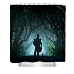 Cold Morning In Dark Hedges Shower Curtain