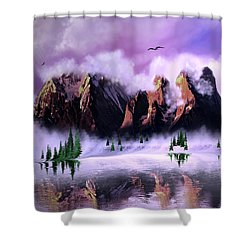 Cold Mountain Morning Shower Curtain