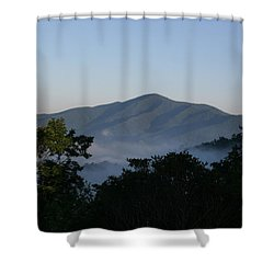 Cold Mountain North Carolina Shower Curtain by Stacy C Bottoms