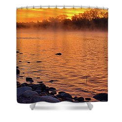 Cold November Morning Shower Curtain