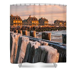 Cold Row Shower Curtain