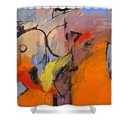 Shower Curtain featuring the painting Cold Shoulder  by Cliff Spohn