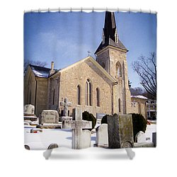 Shower Curtain featuring the photograph Cold Stone Service by T Brian Jones