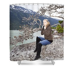 Cold Summer Shower Curtain
