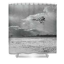 Shower Curtain featuring the photograph Cold War Warrior Bw Version by Gary Eason