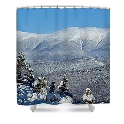 Cold Winter Day On Haystack Nubble Shower Curtain