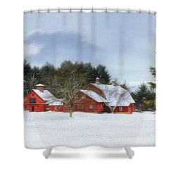 Shower Curtain featuring the digital art Cold Winter Days In Vermont by Sharon Batdorf