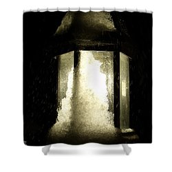 Cold Winter Night Shower Curtain by Ed Smith