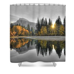 Cold Yosemite Reflections Shower Curtain