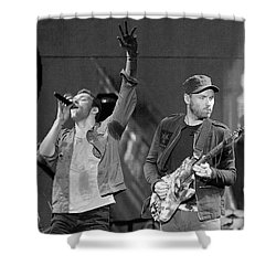 Coldplay 14 Shower Curtain by Rafa Rivas