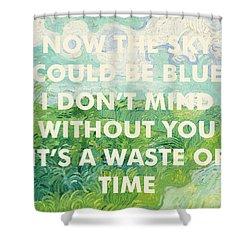 Coldplay Lyrics Art Print Shower Curtain