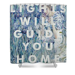 Coldplay Lyrics Print Shower Curtain