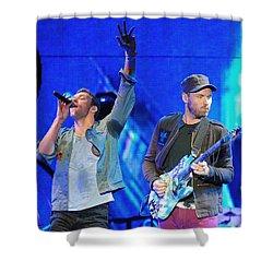 Coldplay6 Shower Curtain by Rafa Rivas