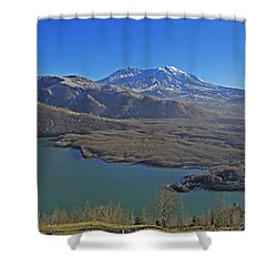 Coldwater Lake Shower Curtain by Jack Moskovita