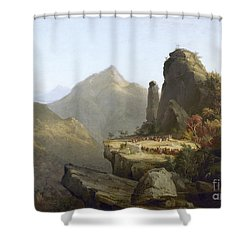Cole: Last Of The Mohicans Shower Curtain by Granger