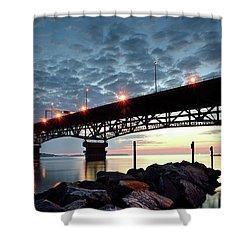 Coleman Bridge Reflections Shower Curtain