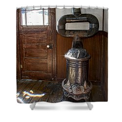 Coles Hot Blast Stove - Molson Ghost Town Shower Curtain by Daniel Hagerman