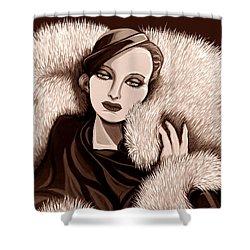 Colette In Sepia Tone Shower Curtain by Tara Hutton