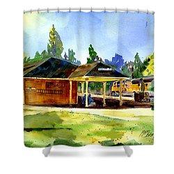 Colfax Rr Depot Shower Curtain