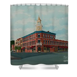 Colgate Bookstore Shower Curtain by Charlotte Blanchard