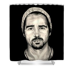 Colin Farrell  Total Recall Shower Curtain by Fred Larucci