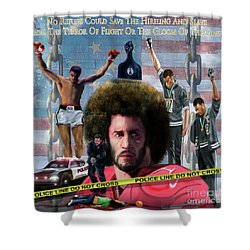 Colin Kaepernick Amongst The Brave Few 2a Shower Curtain