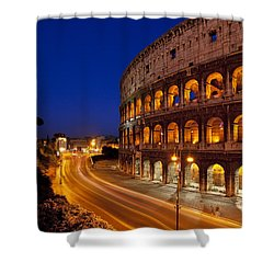 Coliseum At Twilight Shower Curtain by Brian Jannsen