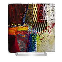 Shower Curtain featuring the painting Collage Art 2 by Patricia Lintner