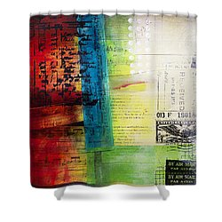 Shower Curtain featuring the painting Collage Art 4 by Patricia Lintner
